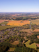 Aerial photograph of farmland north of Albany, Green County, Wisconsin, USA.