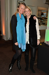 Left to right, LILLY BARCLAY and MARIJE SERRANO at a film screening in aid of the charity Women for Women held at BAFTA, 195 Piccadilly, London on 26th February 2014.