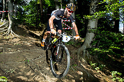 Mitja Tancik during Cross Country XC Mountain bike race for Slovenian National Championship in Kamnik, on July 12, 2015 in Kamnik,  Slovenia. Photo by Vid Ponikvar / Sportida
