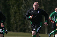 Martyn Williams  of Wales. Wales rugby team training at the Vale of Glamorgan, South Wales ahead of their six nations match in Ireland. on Thurs 11th March 2010. pic by Andrew Orchard, Andrew Orchard sports photography,