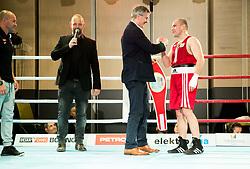 Tadija Kacar with Aljaz Venko of Slovenia, Elite 75 kg Category as best fighter of the evening during Dejan Zavec Boxing Gala event in Laško, on April 21, 2017 in Thermana Lasko, Slovenia. Photo by Vid Ponikvar / Sportida