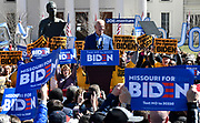 Former Vice-President Joe Biden speaks at a Get Out The Vote rally at Kiener Plaza in downtown St.Louis, Missouri, USA.<br /> Tim VIZER/AFP
