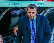 Slavi?a Jokanovic of Fulham during the Sky Bet Championship match at Craven Cottage, London<br /> Picture by Richard Brooks/Focus Images Ltd 07947656233<br /> 02/01/2017