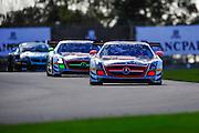 2012 FIA GT1 World Championship.Donington Park, Leicestershire, UK.27th - 30th September 2012.Marc Basseng / Markus Winkelhock, Mercedes-Benz SLS AMG GT3..World Copyright: Jamey Price/LAT Photographic.ref: Digital Image Donington_FIAGT1-18999