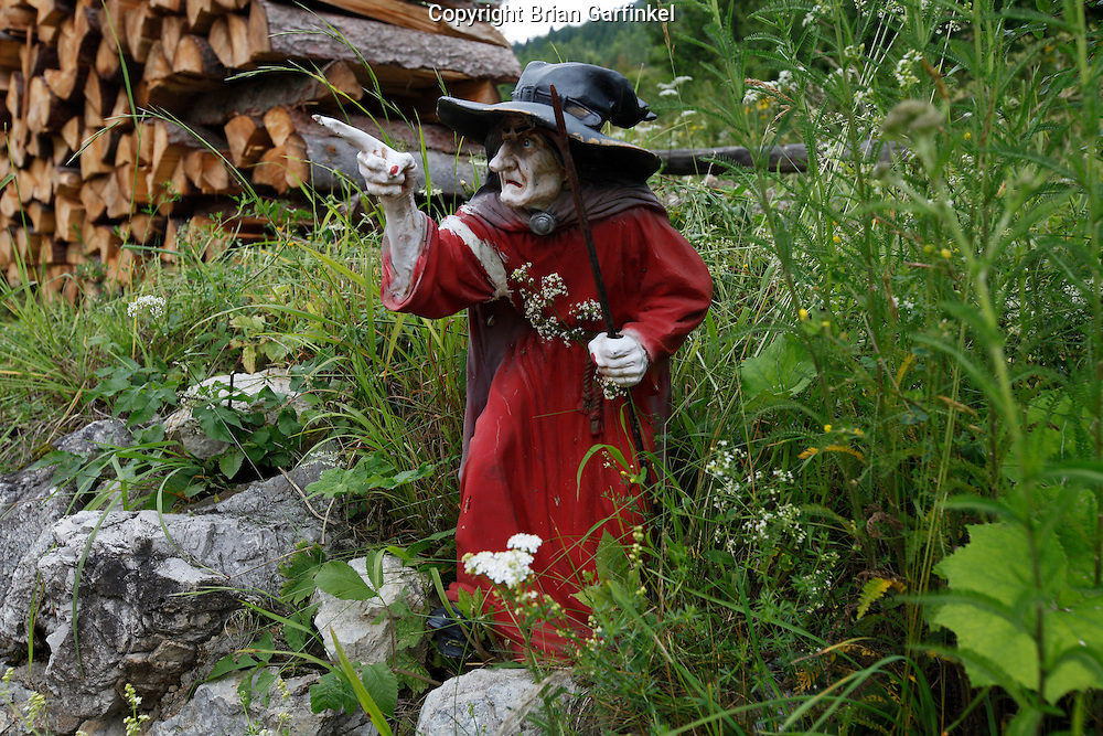 A witch figure in Vilkolinec, Slovakia on Wednesday July 6th 2011.  (Photo by Brian Garfinkel)