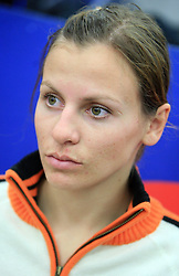 Vanja Brodnik at press conference of Slovenian men and women alpine skiing national team before new season 2008/2009 in Hervis, City park, BTC, Ljubljana, Slovenia, on October 20, 2008.  (Photo by: Vid Ponikvar / Sportal Images).