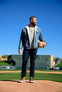 SCOTTSDALE, ARIZONA - JANUARY 26: Archie Bradley poses for lifestyle photos. (Photo by Sarah Sachs/Arizona Diamondbacks)