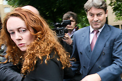 © Licensed to London News Pictures. 12/06/2012. London, UK.Rebekah Brooks and her husband Charlie leave Crown Court Southwark in London today 22 June 2012. Photo credit : Thomas Campean/LNP..