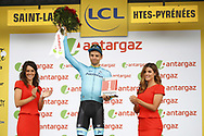 Podium, Hotess, Miss, Tanel Kangert (EST - Astana Pro Team) during the 105th Tour de France 2018, Stage 17, Bagneres de Luchon - Col du Portet (65 km) on July 25th, 2018 - Photo Luca Bettini / BettiniPhoto / ProSportsImages / DPPI