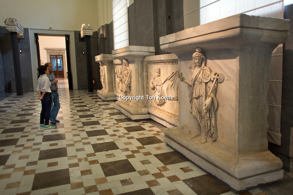 ancient roman art in the  National Archaeological Museum in Naples