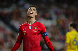 March 22, 2019 - Na - Lisbon, 03/22/2019 - The Portuguese Football Team received its Ukrainian counterpart this afternoon at the Estádio da Luz in Lisbon, in the Group B match in the qualifying round for the European Championship. Cristiano Ronaldo  (Credit Image: © Atlantico Press via ZUMA Wire)