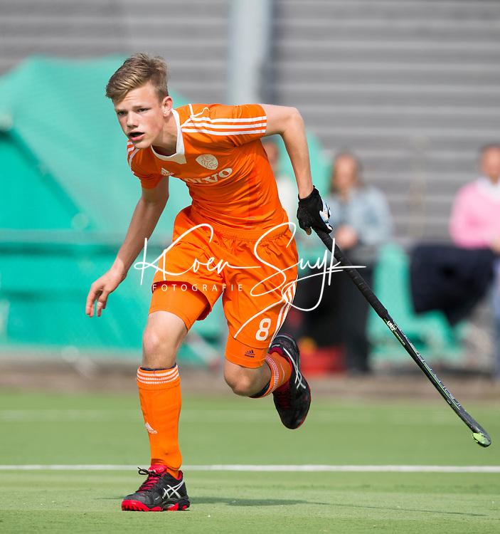 AMSTELVEEN - KOEN VISSER. Oefenwedstrijd tussen het Nederlands Team Jongens B tegen Bloemendaal A1. COPYRIGHT KOEN SUYK