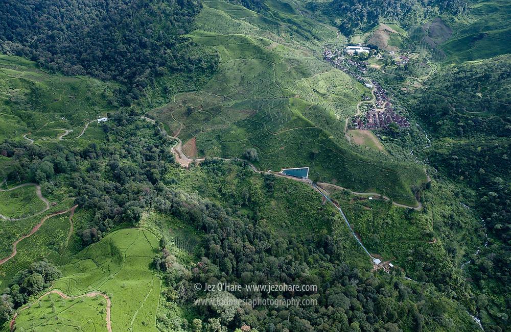 "Dewata Tea Plantatation Mini-Hydro Project, Mount Tilu & Mount Waringin Area, Bandung, West Java, Indonesia   7°12'55.40""S 107°28'19.02""E"