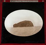 Magic Lantern slide of Bass Rock, Firth of Forth, Scotland, late 1800s c 1900