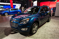 NEW YORK, USA - MARCH 23, 2016: Chevrolet Equinox on display during the New York International Auto Show at the Jacob Javits Center.