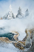 Hot spring in Norris Geyser Basin of Yellowstone National Park