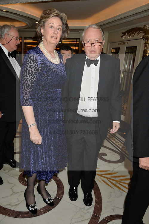 The EARL & COUNTESS DE LA WARR at the 24th Cartier Racing Awards held at The Dorchester, Park Lane, London on 11th November 2014.