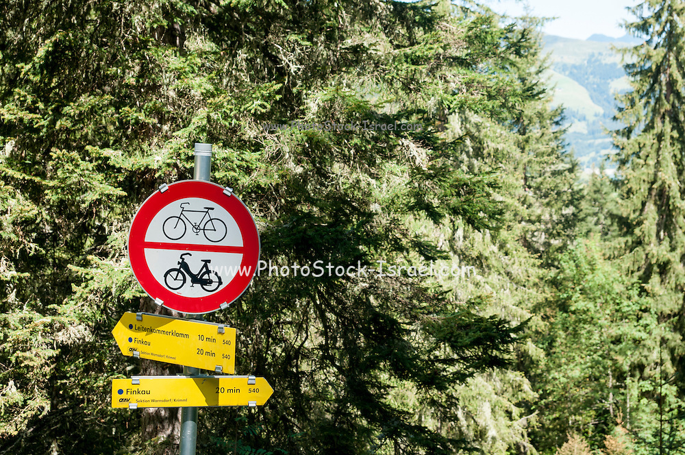 Pedestrian hiking path no bicycles or motorcycles allowed