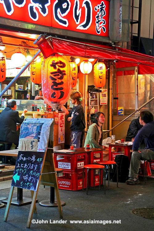 Izakaya Outdoor Bar, Tokyo - Outdoor drinking establishment in Akasaka a popular watering hole in downtown Tokyo