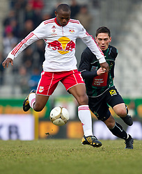 13.02.2011, Tivoli Stadion, Innsbruck, AUT, 1. FBL, FC Wacker Innsbruck vs Red Bull Salzburg, im Bild Rabiu Afolabi, (FC Red Bull Salzburg, Verteidiger, #05), Miran Burgic, (FC Wacker Innsbruck, Sturm, #´09) // during the Austrian Bundesliga Match, FC Wacker Innsbruck vs Red Bull Salzburg at Tivoli Stadium, Innsbruck, EXPA Pictures © 2011, PhotoCredit: EXPA/ J. Feichter