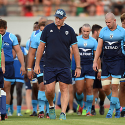 Vern Cotter Coach and Team of Montpellier during the test match between Montpellier and Lyon OU at Altrad Stadium on August 4, 2017 in Montpellier, France. (Photo by Alexandre Dimou/Icon Sport)