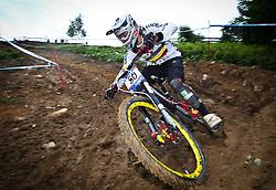12.06.2011, Bikepark, Leogang, AUT, UCI MOUNTAINBIKE WORLDCUP, LEOGANG, im Bild Marcelo Gutierrez Villegas, COL // during the UCI MOUNTAINBIKE WORLDCUP, LEOGANG, AUSTRIA, 2011-06-12, EXPA Pictures © 2011, PhotoCredit: EXPA/ J. Feichter