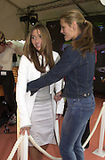 Melanie Blatt, Yasmine LeBon . The Louis Vuitton Clasic. Hurlingham Club, London. 2 June 2001. © Copyright Photograph by Dafydd Jones 66 Stockwell Park Rd. London SW9 0DA Tel 020 7733 0108 www.dafjones.com