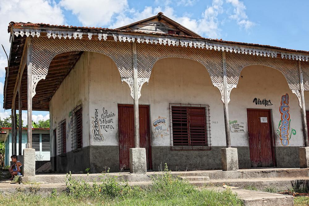 Building in San Miguel de los Banos, Matanzas, Cuba.