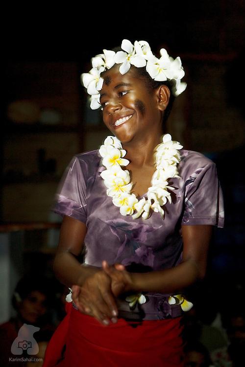 Girl from Kadavu island, Fiji.