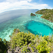 Beautiful view over a beautiful lagoon of Misool are in West-Papua.