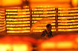 Lanterns at the Mitama Matsuri festival at the Yasukuni Shrine in Tokyo