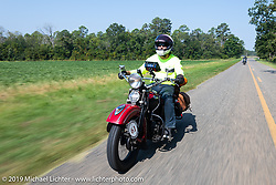 Bob Zeolla riding his 1939 Harley-Davidson EL Knucklehead in the Cross Country Chase motorcycle endurance run from Sault Sainte Marie, MI to Key West, FL. (for vintage bikes from 1930-1948). Stage-7 covered 249 miles from Macon, GA to Tallahassee, FL USA. Thursday, September 12, 2019. Photography ©2019 Michael Lichter.