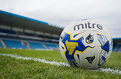 General view of the League one mitre ball inside the Priestfield Stadium . - Mandatory by-line: Alex James/JMP - 14/04/2017 - FOOTBALL - MEMS Priestfield Stadium - Gillingham, England - Gillingham v Bristol Rovers - Sky Bet League One