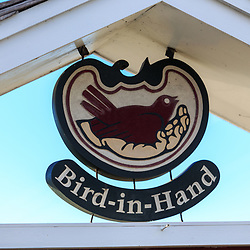 Bird-in-Hand, PA / USA - January 10, 2016:  Detail on a Bird-in-Hand Restaurant sign.