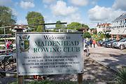 Maidenhead. Berkshire. United Kingdom. General view Club signage, Maidenhead RC Boathouse. 2017 Maidenhead Junior Regatta  River Thames. <br /> <br /> [©Peter SPURRIER/Intersport Images] Sunday. 14.05.2017
