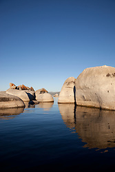 """""""Boulders at Lake Tahoe 4"""" - These boulders were photographed from a kayak early in the morning at Lake Tahoe, near Speed Boat Beach."""