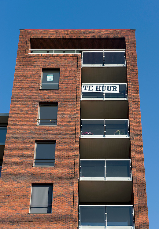 Nederland, Utrecht, 8 okt  2009.Nieuwbouw Utrecht, Goylaan.  Stadsvernieuwing. Appartement te huur...Foto (c) Michiel Wijnbergh