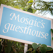 the Mosaic Guest House is a charming home run by French Mosiac artist Herve?, who has four pretty guest rooms above his studio, located just 30 minutes outside of Jaipur,.near the Amber Fort. Brigitte Singh, the acclaimed block print artist, helped .with the interiors and some of the most delicious food in town is served here - the citron tart is a must! .Siyaram ki Doongri, Amber.+91 141 253 0031, +91 99504 57218, www.mosaicsguesthouse.com