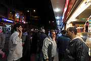 people hanging around a fast food shop Istanbul Turkey