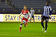 Tom Bradshaw during the EFL Sky Bet Championship match between Sheffield Wednesday and Millwall at Hillsborough, Sheffield, England on 7 November 2020.