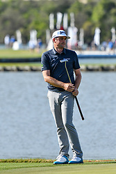 March 21, 2018 - Austin, TX, U.S. - AUSTIN, TX - MARCH 21: Keegan Bradley watches his putt during the First Round of the WGC-Dell Technologies Match Play on March 21, 2018 at Austin Country Club in Austin, TX. (Photo by Daniel Dunn/Icon Sportswire) (Credit Image: © Daniel Dunn/Icon SMI via ZUMA Press)
