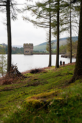 Derwent Dam in the Peak National Park overflows as part of of Britain still have a hosepipe ban in place despite the possibility that April 2012 could be the wettest in 250 year..27 April 2012 .Image © Paul David Drabble