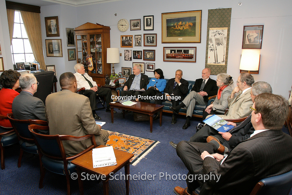 Members of the National League of Cities meet with Jim McDermott D-WA during their event in Washington, DC