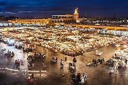 Evening in Jemaa el Fna square, Merrakesh, Morocco
