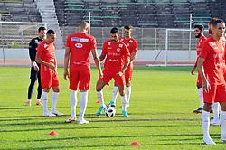 June 4, 2018 - Tunis, Tunisia - Training of the Tunisian national team at El Menzah stadium before his departure to Russia to participate in the FIFA 2018 World Cup. (Credit Image: © Chokri Mahjoub via ZUMA Wire)