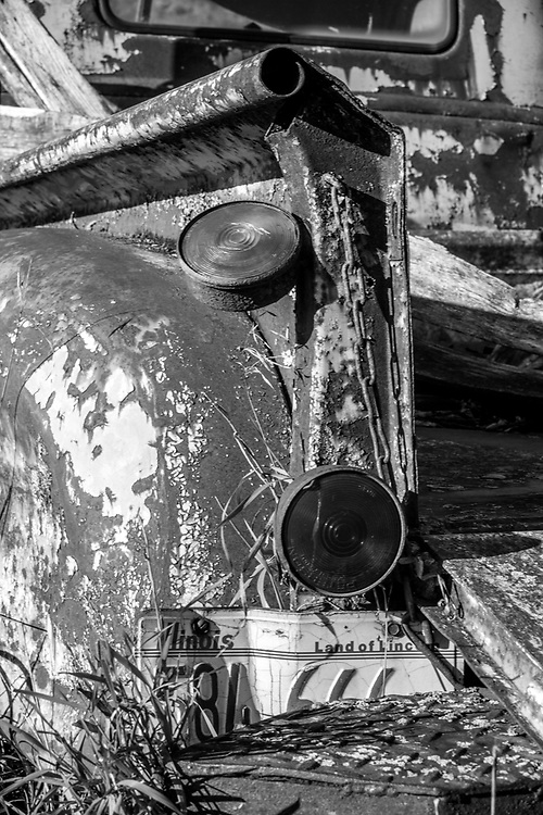 Old Chevy Workhorse put out to pasture. Photo taken October 23, 2019.