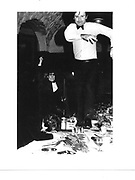 Onanist dinner, Macmillan room, Oxford Union. 1981.© Copyright Photograph by Dafydd Jones 66 Stockwell Park Rd. London SW9 0DA Tel 020 7733 0108 www.dafjones.com