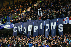 Chelsea fans layout flags spelling Champions - Mandatory by-line: Jason Brown/JMP - 15/05/2017 - FOOTBALL - Stamford Bridge - London, England - Chelsea v Watford - Premier League