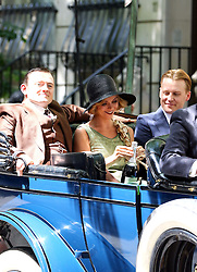 August 9, 2016 - New York, New York, United States - Actors Christina Ricci and David Hoflin (R) were on the set of the new TV show 'Z: The Beginning of Everything' on August 9 2016 in New York City  (Credit Image: © Zelig Shaul/Ace Pictures via ZUMA Press)