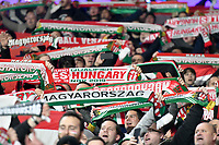 Football - 2019 / 2020 UEFA European Championships Qualifier - Group E: Wales vs. Hungary<br /> <br /> hungary fans, at Cardiff City Stadium.<br /> <br /> COLORSPORT/WINSTON BYNORTH